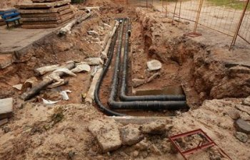 Orlando FL sewer line being replaced